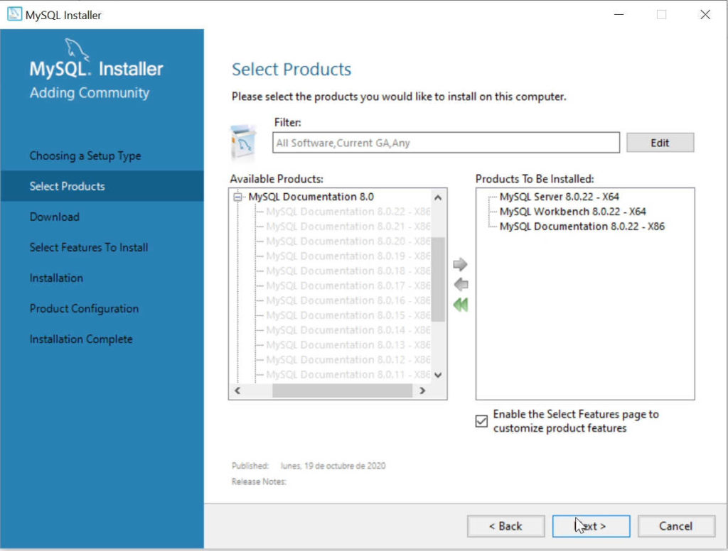 Instalación MySQL Server y MySQL Workbench
