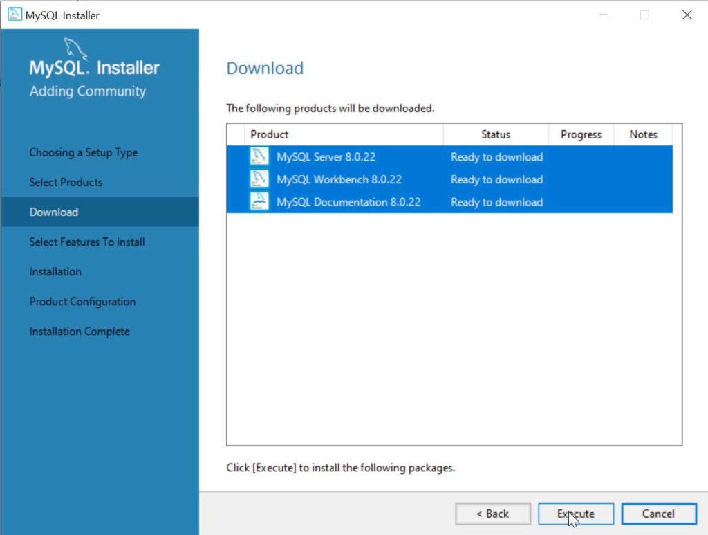 Descargar MySQL Server y MySQL Workbench para instalar
