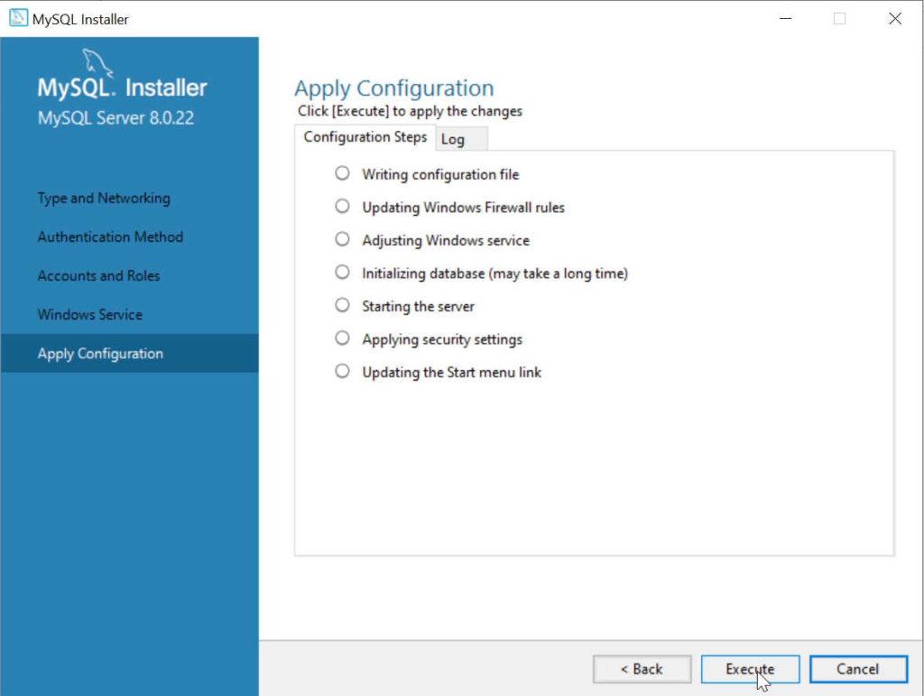 configurar mysql server windows