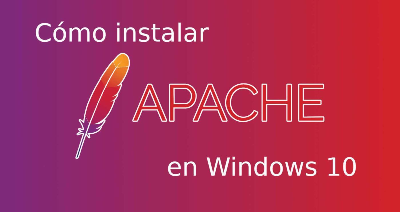 cómo instalar apache en windows